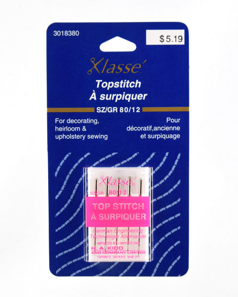 Package of 5 Top Stitch Needles 80/12
