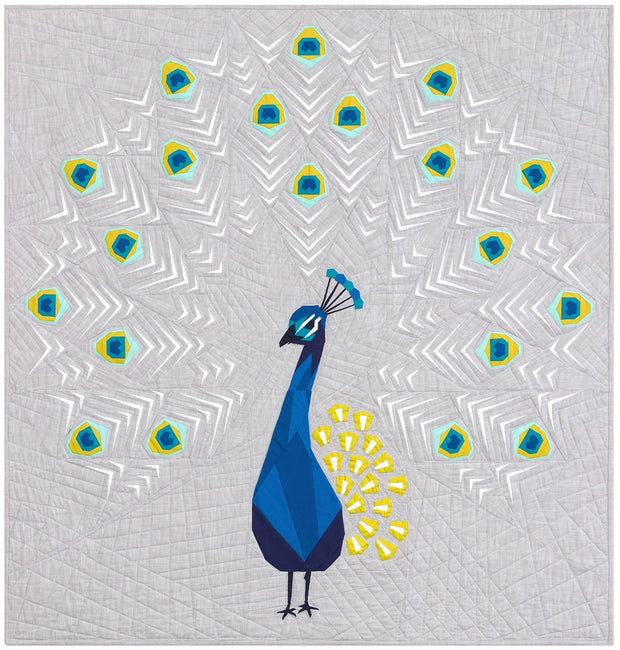 Peacock Abstractions Quilt Pattern