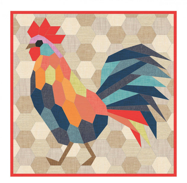 The Rooster EPP Quilt Pattern
