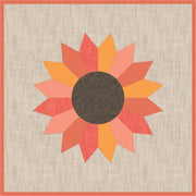 The Sunflower EPP Quilt Pattern by Violet Craft