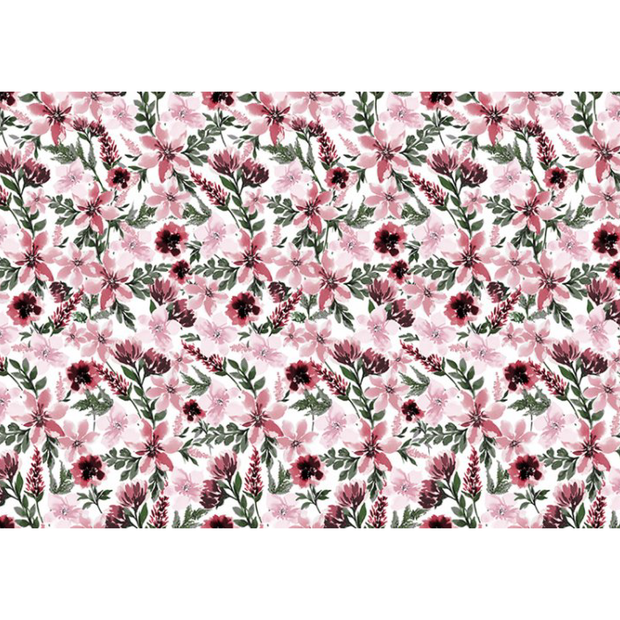 Digital Cuddle® Minky Spring Flowers Rosewood
