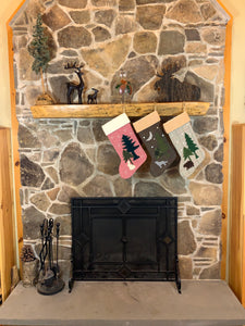 Rustic Wolf Christmas Stocking