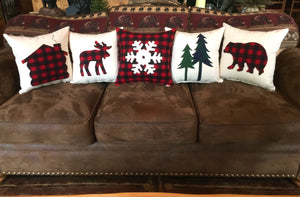 Buffalo Plaid Snowflake Pillow