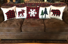 Log Cabin Christmas Buffalo Plaid Pillow