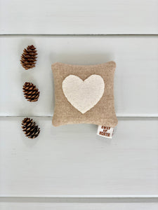 Rustic Wedding Favor Heart Pillow