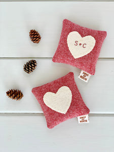 Personalized Rustic Heart Balsam Pillow