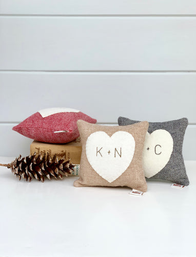 Personalized Rustic Heart Pillow