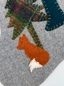 Woodland Fox Christmas Stocking