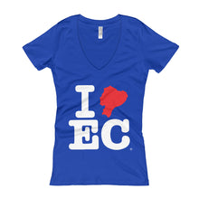 I EC (Women's V-Neck T-shirt)