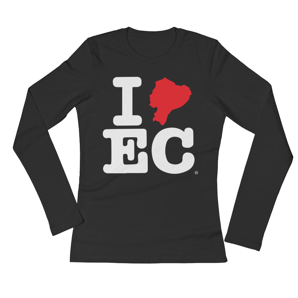 I EC (Ladies' Long Sleeve T-Shirt)