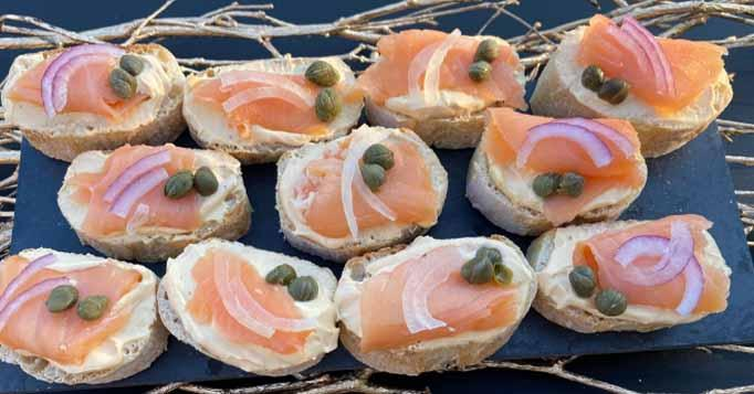 Sizzle Cream Cheese and Smoked Salmon