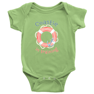 Coast Guard Baby Clothes - US Coastie Onesie for Newborns Infants & Toddlers - Island Dog T-Shirt Company