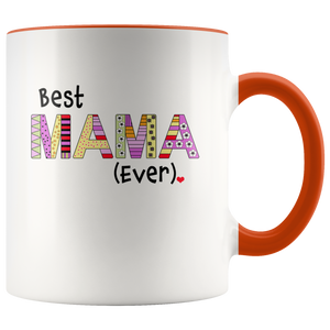 Best Mama Ever Coffee Mug - 2-Tone Mug - 11 Ounce Colorful Mother Coffee Cup - Island Dog T-Shirt Company