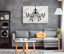 Glam Wall Decor for Women - Shabby Chic Wall Decor - Vintage Chandelier over Italian Marble - Island Dog T-Shirt Company