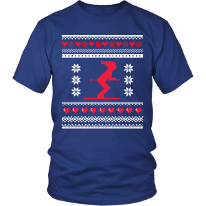 Ugly Christmas Shirt for Men and Women - Holiday Party Skier Unisex Tee - S - 4XL - Island Dog T-Shirt Company