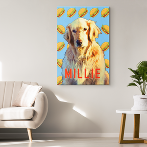Custom Canvas Pop Art Your Pet - Turn YOUR Pet Into a CUSTOM Pop Art Wrapped Canvas Wall Hanging - Island Dog T-Shirt Company
