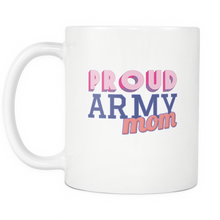 Proud Army Mom 11 ounce Coffee Mug - Tea Cup - Hot Chocolate Mug - Island Dog T-Shirt Company