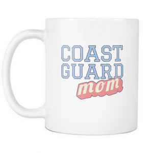 Coast Guard Mom Coffee Mug - Tea Mug - Hot Chocolate Cup - Island Dog T-Shirt Company