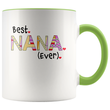 Best Nana Ever Coffee Mug - 2-Tone Mug - 11 Ounce Colorful Grandmother Coffee Cup - Island Dog T-Shirt Company