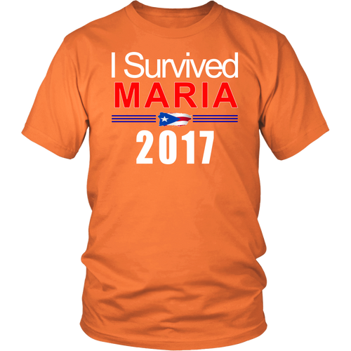 I Survived Maria 2017 T-Shirt - Commemorative Puerto Rico  Hurricane Tee - Unisex - Island Dog T-Shirt Company