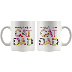 Cat Dad Mugs - Super Cute Cat Ceramic Mug - Funny Kitty Cups Novelty for Kitten Lovers - Island Dog T-Shirt Company