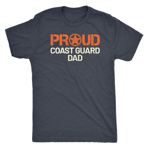 Proud Coast Guard Dad - Father of a Coastie Short Sleeve Ultra Soft Military Tee - Island Dog T-Shirt Company