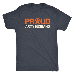 Proud Army Husband - Men's Ultra Soft Short Sleeve Military Hubbie Tee - Island Dog T-Shirt Company