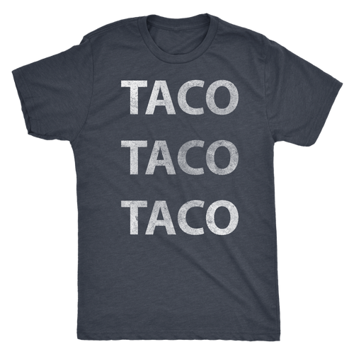 Men's Ultra Soft Comfort Short Sleeve Tee - Taco Taco Taco - Guy's Foodie Shirt - Island Dog T-Shirt Company