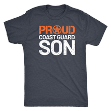 Proud Coast Guard Son - Men's Ultra Soft Comfort Short Sleeve Tee - Son's Military Pride Shirt for Mom or Dad - Island Dog T-Shirt Company
