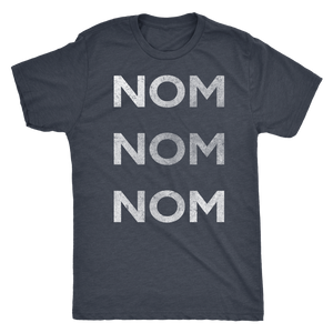 Men's Ultra Soft Comfort Short Sleeve Tee - Nom Nom Nom - Guy's Foodie Shirt - Island Dog T-Shirt Company
