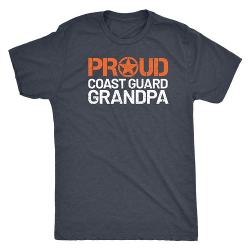 Proud Coast Guard Grandpa T-Shirt - Men's Ultra Soft Short Sleeve Military Grandfather Tee - Island Dog T-Shirt Company