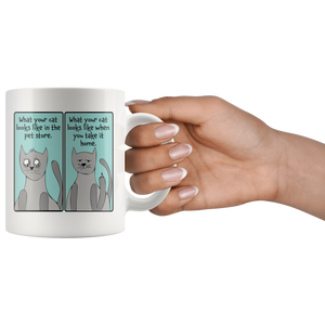 Super Cute Cat Ceramic Mug - Funny Kitty Cups Novelty for Cat Mugs for Cat Lovers - Island Dog T-Shirt Company