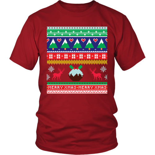 Ugly Christmas Shirt for Men and Women - Reindeer Holiday Party Unisex Tee - S - 4XL - Island Dog T-Shirt Company