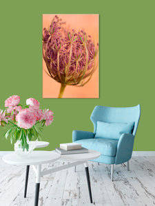 Room Decor for Women - Glam Decor - Purple Pink & Green Home Decor - Flower Painting - Awaken - Island Dog T-Shirt Company