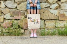 Best Aunt Ever - Gift Idea for Auntie - Reusable Shopping Tote Bag - Island Dog T-Shirt Company