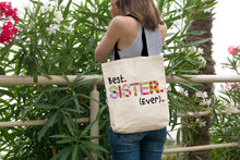 Best Sister Ever - Gift Idea for Sis - Reusable Shopping Tote Bag - Island Dog T-Shirt Company