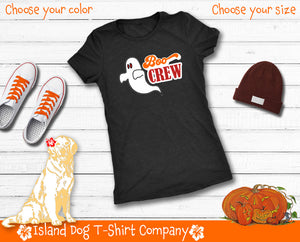 Boo Crew - Funny Halloween Ghost Ultra Soft Tee for Women - Island Dog T-Shirt Company