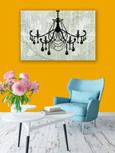 Glam Wall Decor for Women - Shabby Chic Wall Decor - Vintage Chandelier over Mint Green - Island Dog T-Shirt Company