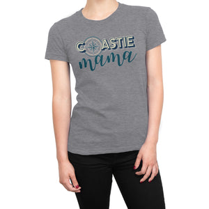 Coastie Mama Ladies' TriBlend Ultra Comfort Coast Guard Tee - Island Dog T-Shirt Company