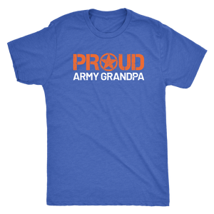 Proud Army Grandpa T-Shirt - Men's Ultra Soft Short Sleeve Military Grandfather Tee - Island Dog T-Shirt Company