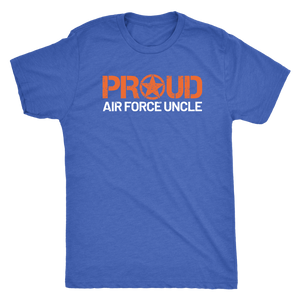 Proud Air Force Uncle - Men's Ultra Comfort Short Sleeve Military UncleTee - Island Dog T-Shirt Company