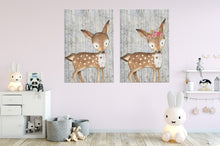 Woodland Nursery Decor for Boys - Boy Nursery Decor - Canvas Wall Art for Nursery - 5 Sizes - Baby Boy Room Woodland Deer over Birch Trees - Island Dog T-Shirt Company