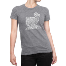 Vintage Dodo Bird Ladies' Tee - Women's Ultra Soft Comfort Short Sleeve Tee - Dodo T-shirt for Her - Island Dog T-Shirt Company