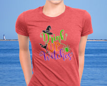 Drink Up Witches Women's Funny Halloween Party Shirt - Ultra Soft Triblend Tee - Island Dog T-Shirt Company