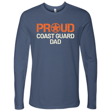 Proud Coast Guard Dad Long Sleeve Tshirt - Father of a Coastie Ultra Comfort Military Tee - Island Dog T-Shirt Company