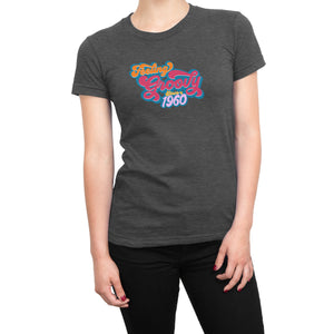 Feeling Groovy Since 1960 - Ladies' Birthday Year Shirt for Women - Anniversary Ultra Soft Tee - Island Dog T-Shirt Company