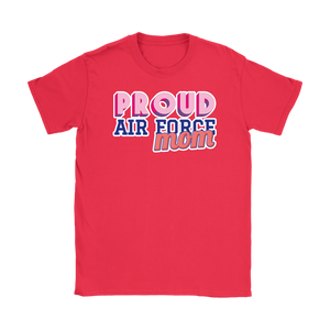 Proud Air Force Mom Tee - Mother of an Airman Shirt - Island Dog T-Shirt Company