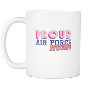 Proud Air Force Mom 11 ounce Coffee Mug - Tea Cup - Hot Chocolate Mug - Island Dog T-Shirt Company