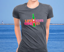 Life Happens Wine Helps - Funny Women's Wine Lover Tee - Ultra Soft Triblend - Island Dog T-Shirt Company