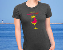 Merlot Queen - Women's Wine Lover Tee - Ultra Soft Triblend Tshirt for Her - Island Dog T-Shirt Company